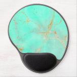 Mirada pintada trullo abstracto de mármol de la alfombrillas de ratón con gel