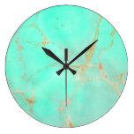 Mirada pintada trullo abstracto de mármol de la reloj