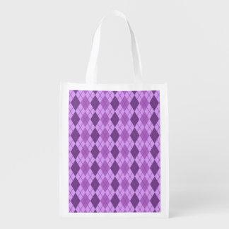 Mirada púrpura de color de malva y violeta de Argy Bolsa Para La Compra