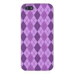 Mirada púrpura de color de malva y violeta de iPhone 5 carcasa