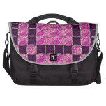 Mirada púrpura de la teja de mosaico bolsa de ordenador