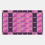 Mirada púrpura de la teja de mosaico rectangular pegatina