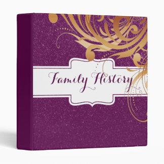 """Mirada púrpura del brillo de la genealogía de los carpeta 1"""""""