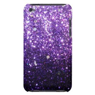Mirada púrpura del brillo iPod touch cárcasas