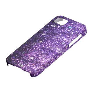 Mirada púrpura del brillo iPhone 5 carcasas