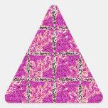 Mirada púrpura del mosaico calcomania triangulo