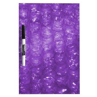Mirada púrpura del plástico de burbujas de la nove tablero blanco