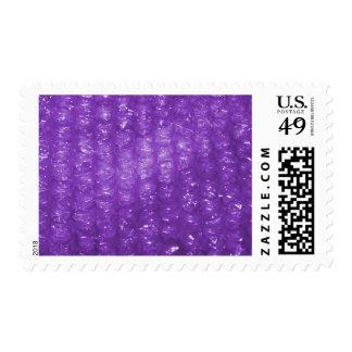 Mirada púrpura del plástico de burbujas de la sellos