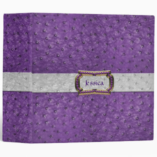 Mirada púrpura elegante del cuero de la avestruz d