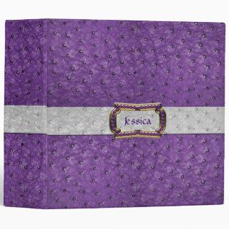 """Mirada púrpura elegante del cuero de la avestruz d carpeta 2"""""""