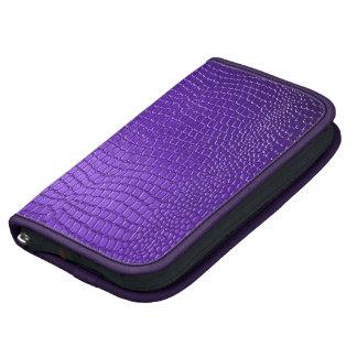 Mirada púrpura elegante del cuero de Snakeskin Organizador