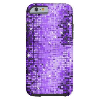 Mirada púrpura metálica DiscoMirrors Bling de las Funda De iPhone 6 Tough