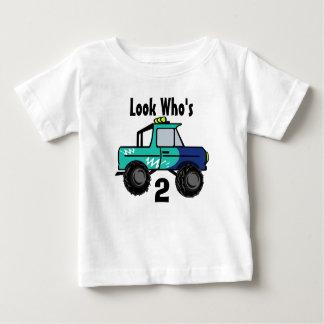 Mirada que es, 2 del camión de monstruo playera de bebé