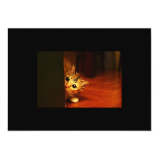 mirada que se escabulle del gato del gatito invitación 12,7 x 17,8 cm
