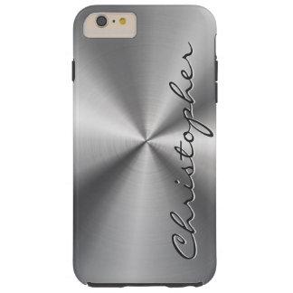 Mirada radial metálica personalizada del acero funda de iPhone 6 plus tough