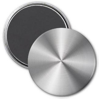 Mirada radial metálica personalizada del acero imán redondo 7 cm
