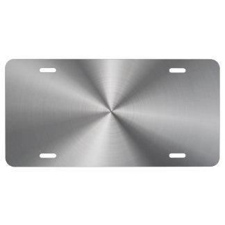 Mirada radial metálica personalizada del acero placa de matrícula