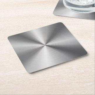 Mirada radial metálica personalizada del acero posavasos de cartón cuadrado