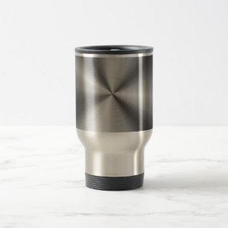 Mirada radial metálica personalizada del acero taza de viaje de acero inoxidable