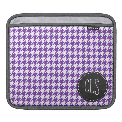 Mirada retra de la pizarra; Púrpura Houndstooth de Fundas Para iPads