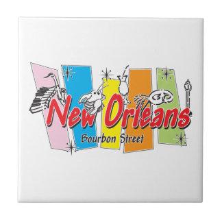 Mirada retra de New Orleans Tejas Cerámicas