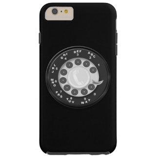 Mirada retra del dial rotatorio funda de iPhone 6 plus tough