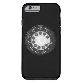 Mirada retra del dial rotatorio funda de iPhone 6 tough