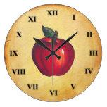 Mirada roja de la antigüedad de Apple Reloj Redondo Grande