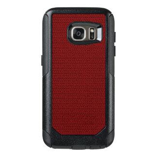Mirada roja de la malla de la armadura de Borgoña Funda Otterbox Para Samsung Galaxy S7