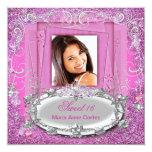 Mirada rosada del brillo del dulce dieciséis del comunicados personales