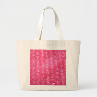 Mirada rosada del plástico de burbujas de la noved bolsa de tela grande