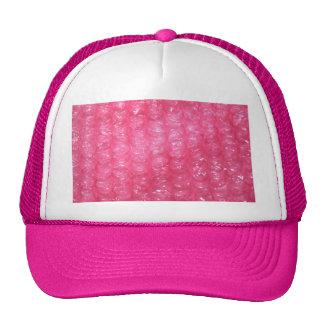 Mirada rosada del plástico de burbujas de la noved gorro