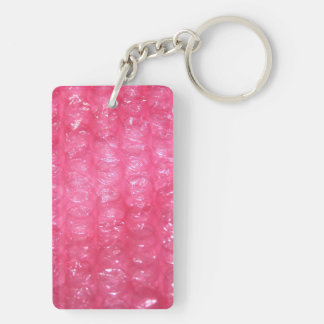 Mirada rosada del plástico de burbujas de la noved llavero