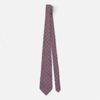 Mirada rosada y negra del diseño dominante griego corbatas personalizadas