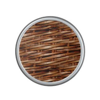 Mirada rugosa de la cesta de mimbre altavoz bluetooth
