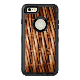 Mirada rugosa de la cesta de mimbre funda otterbox para iPhone 6/6s plus