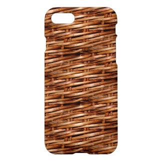 Mirada rugosa de la cesta de mimbre funda para iPhone 7