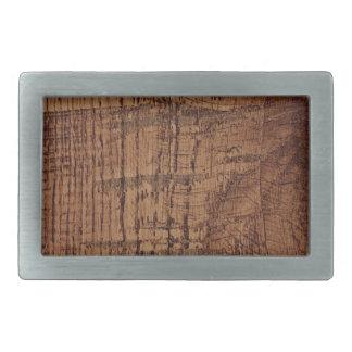 Mirada rugosa del grano de madera de roble de hebillas cinturon rectangulares