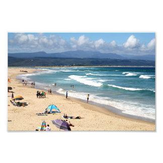 Mirada sobre una playa surafricana hermosa fotografia