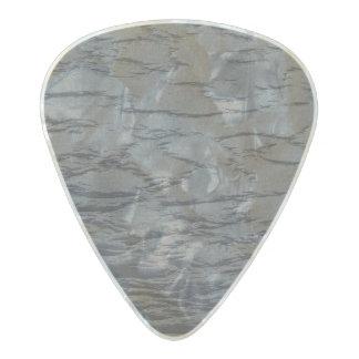 Mirada sólida del cuero del gris de pizarra púa de guitarra celuloide nacarado