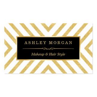 Mirada superior moderna del oro del negro elegante tarjetas de visita
