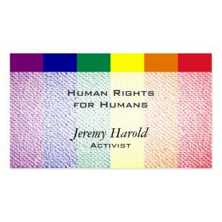 Mirada texturizada bandera del arco iris plantillas de tarjetas personales