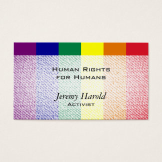 Mirada texturizada bandera del arco iris tarjetas de visita