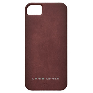 Mirada texturizada con diseño de hombres exclusivo iPhone 5 carcasa