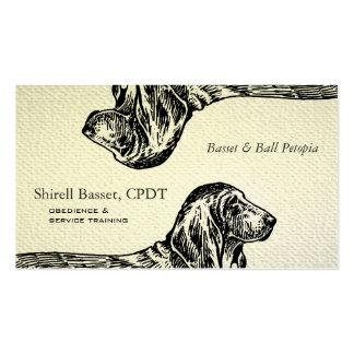 Mirada texturizada perro de Basset Hound Tarjetas De Visita