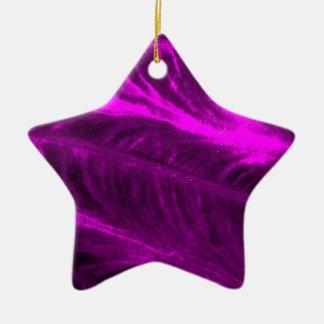 Mirada texturizada púrpura del oído de elefante adorno de cerámica en forma de estrella