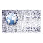 Mirada texturizada tango del globo del mundo de la plantilla de tarjeta de negocio