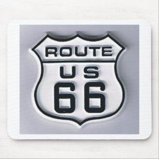 Mirada tridimensional de la ruta 66 tapete de raton