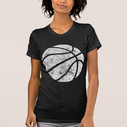 Mirada usada baloncesto retra camiseta