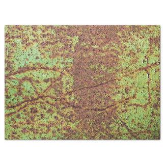 Mirada verde oxidada papel de seda grande